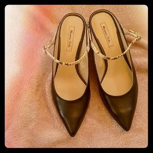 NWOT Massimo Dutti Pointed Toe Kitten Heels